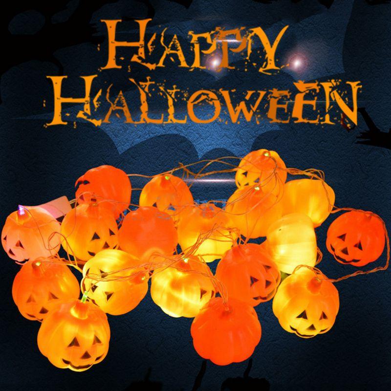 cheap halloween pumpkin light string color led strings skull light string decorative lights for party festive wedding easter string lights christmas led - Halloween Pumpkin Lights