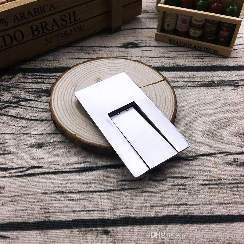 Chegada nova COHIBA Prático Gadgets Prata Aço Inoxidável Dobrável Stand Mostrando Portátil Charuto Cinzeiro Titular frete grátis