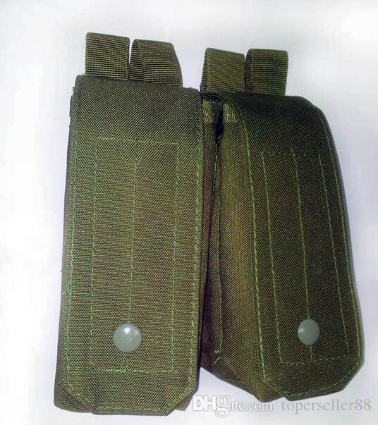 Tactical Airsoft Molle Double AK Magazine Pouch OD TAN Woodland CP Collection Wargame