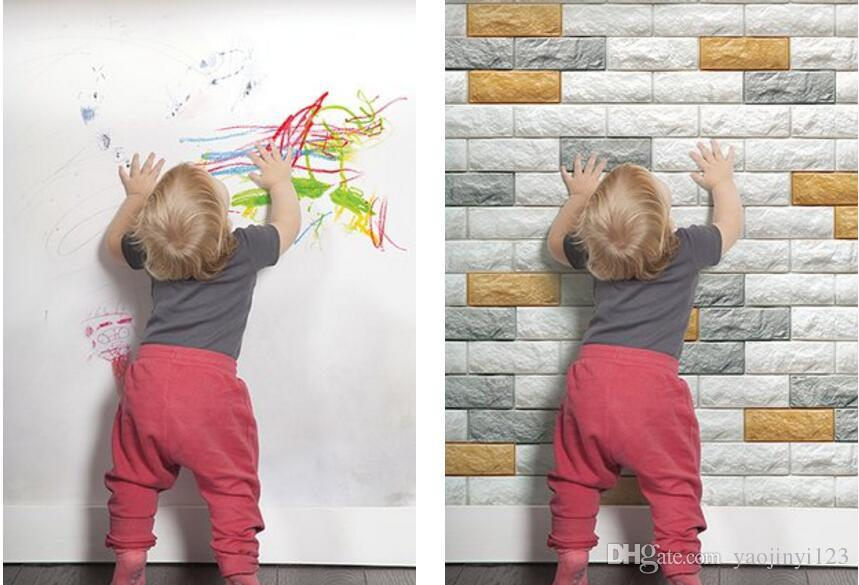 3d Brick Wall Sticker Self Adhesive Foam Wallpaper Panels Kids Room Decal  Art Wall Decal Art Wall Decals From Yaojinyi123, $120.61| Dhgate.Com