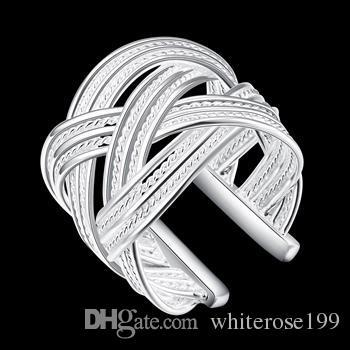 도매 - 소매 최저 가격 크리스마스 선물, 무료 배송, 새로운 925 실버 패션 반지 R08