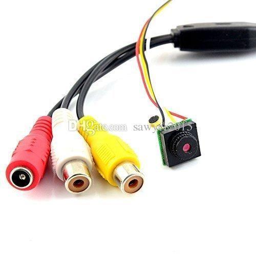 HD 700TVL Mini cámara estenopeica seguridad en el hogar CCTV Micro cámara HD video audio cámara estenopeica DIY NTSC / PAL con caja al por menor