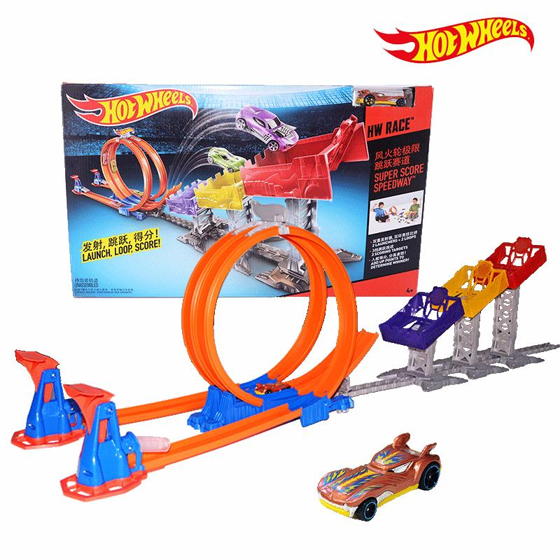 Hot Wheels Limit Jump Track Toy Kids Electric Toys Square