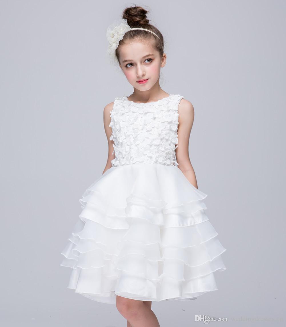 2017 Newest High Grade Evening Dresses Flower Children Dress Skirt ...