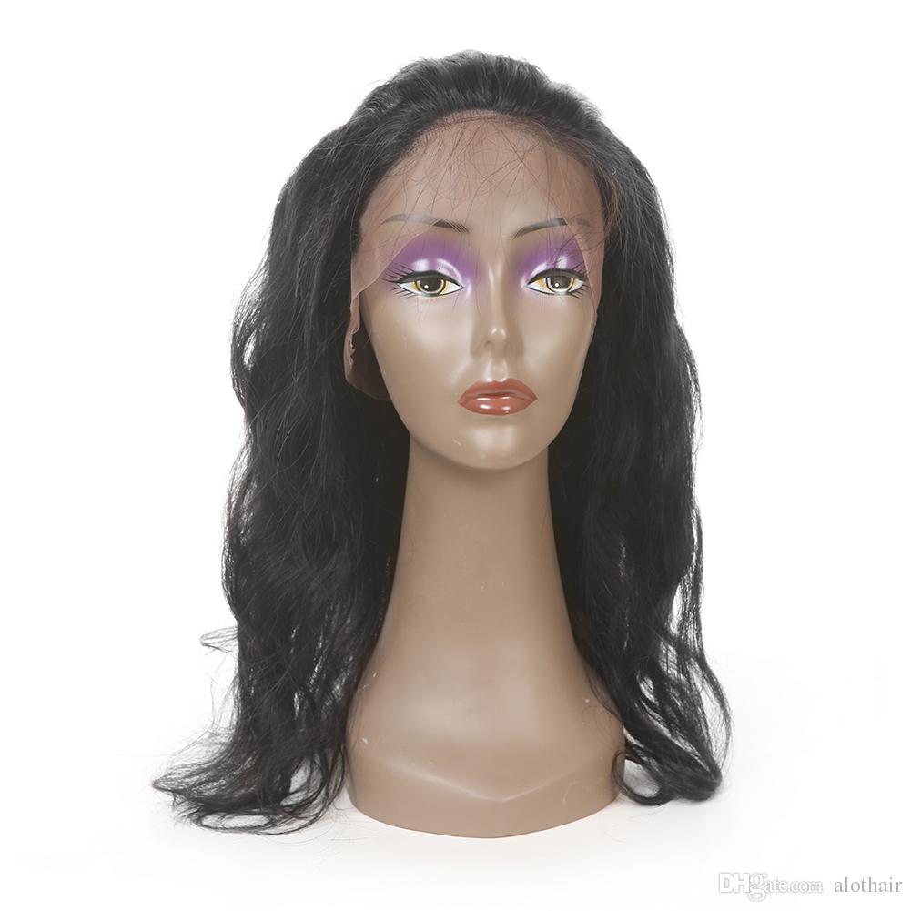 Fasci di capelli 3 ALOT con 360 Frontal Del Merletto Chiusura Onda Del Corpo Prodotti capelli umani vergini brasiliani 3 pacchi con chiusura frontale di pizzo 360