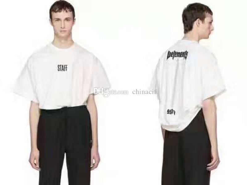 Vetements men letters short sleeved t-shirt VVT-01-02