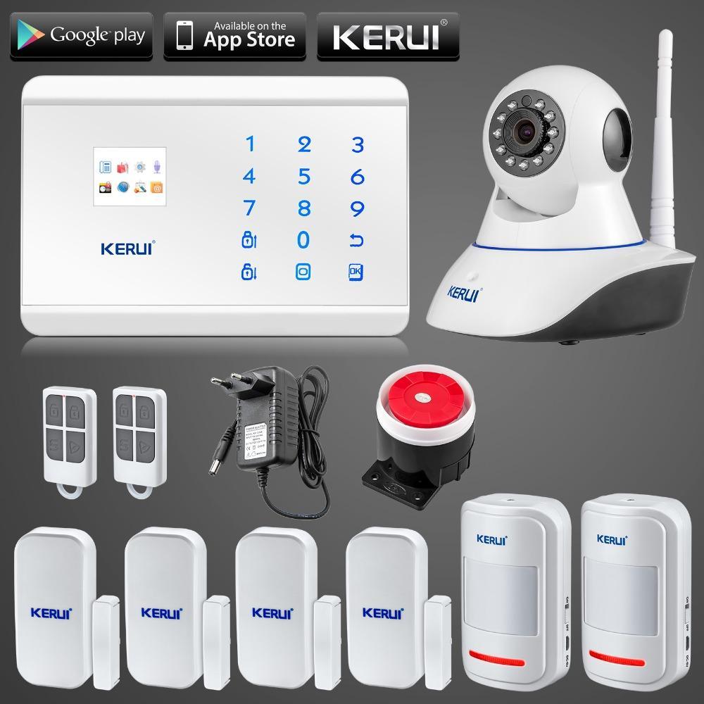 Acheter LS111 KERUI N62 WIfi Ip Caméra APP Contrôle Sans Fil GSM PSTN Maison  Alarme Système De Sécurité Autodial IOS Android À Distance Bras   Désarmer  De ... b1e59c0d6854
