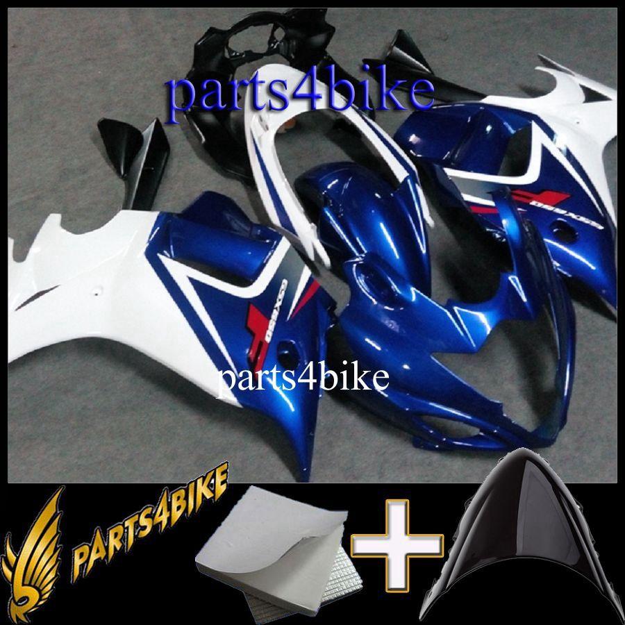 ABS Fairing for Suzuki GSX650F 08 10 GSX 650F 2008-2010 08 09 10 blue white Aftermarket Plastic Motorcycle Body Kit