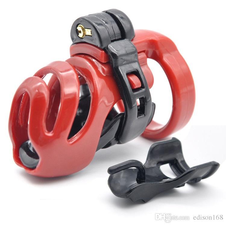 Натуральная смола 3D мужской короткий петух клетчатка PA lock с 4 размером пенис кольцо целомудрие устройства для взрослых BDSM BDSM продукт секс игрушка 3 цвета A357