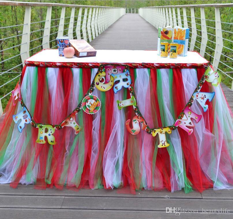 انفجار مجموعة متنوعة من الألوان الجدول تنورة أوروبا والولايات المتحدة حفلة عيد ميلاد الجدول اللباس الإبداعية لطيف عيد الميلاد الجدول احتفالي د