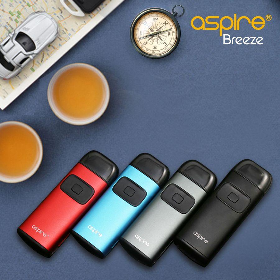 Aspire Breeze Kit Dispositif tout-en-un intégré 2ML Réservoir U-tech Bobine avec station de recharge Breeze Auto On / Off 100% Original
