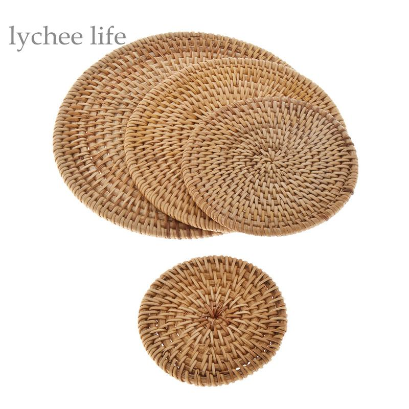 2018 Whole Lychee Vintage Rattan Cup Coaster Placemat Pot Pad Table Mat Home Decoration Kitchen Accessories From Cansou 32 6 Dhgate Com