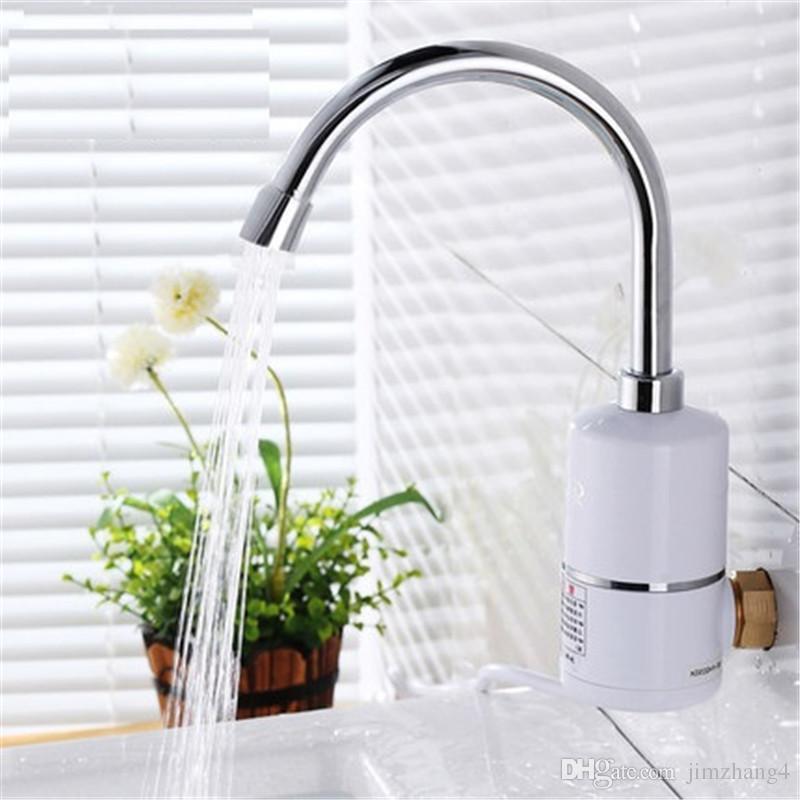 XMS02-2, Calentador de agua eléctrico sin tanque, Calentador de agua caliente instantáneo para grifo de cocina, Grifo de agua eléctrico, Calentador instantáneo 3000W