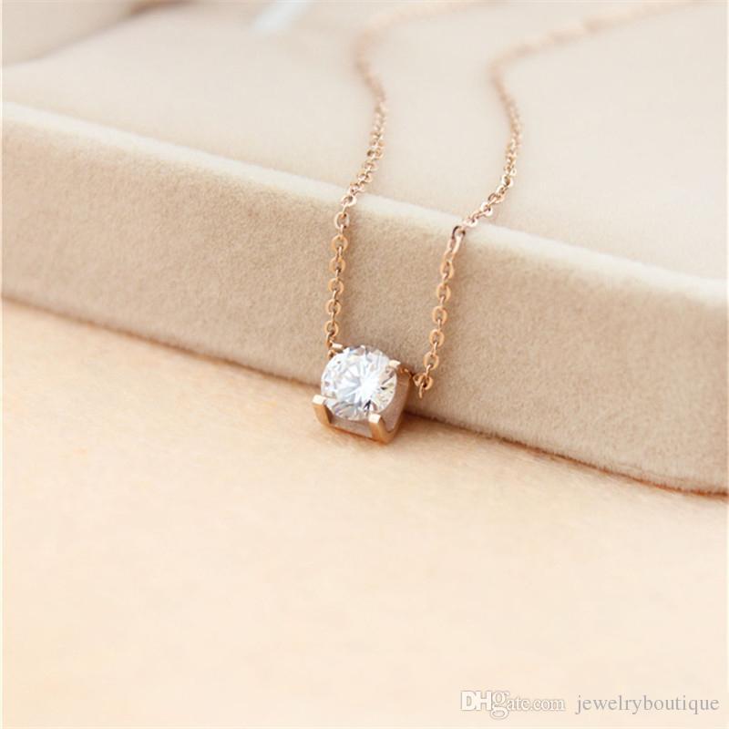 сталь ожерелье цена подвески 316L Titanium Лучшее с супер милым счастливчиком большим квадратным бриллиантом для женщин свадебного подарка ювелирных изделий PS5032