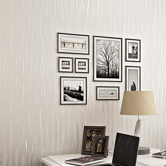 Wholesale non woven wallpaper tv backdrop of modern living for Cheap plain white wallpaper