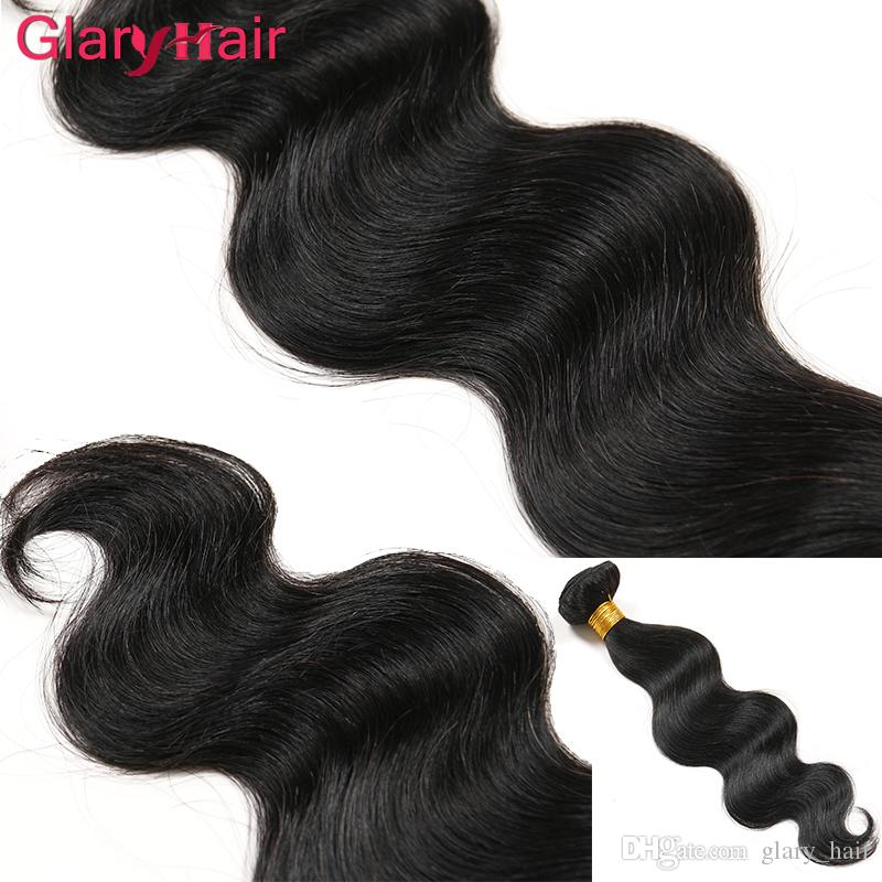Glary Peruvian Hair Body Wave Weaves Best Sell Brazilian Virgin Hair Bundles Unprocessed Remy Human Hair Extensions Malaysian Indian