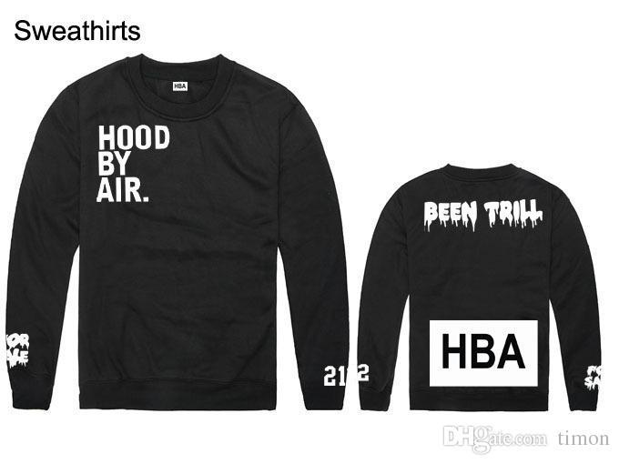 hood by air sweatshirt hoodie HBA hip hop clothing been trill crew neck men casual streetwear Rock clothing skateboard hoody