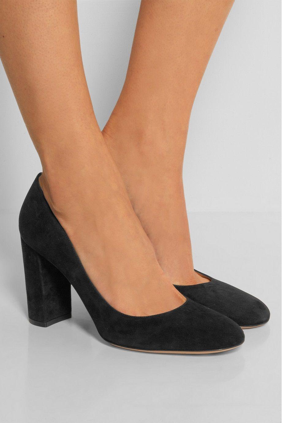 Zandina Ladies Handmade Fashion Thick Block Heel Closed Toe High Heel Party Office Pumps Shoes BLack SL