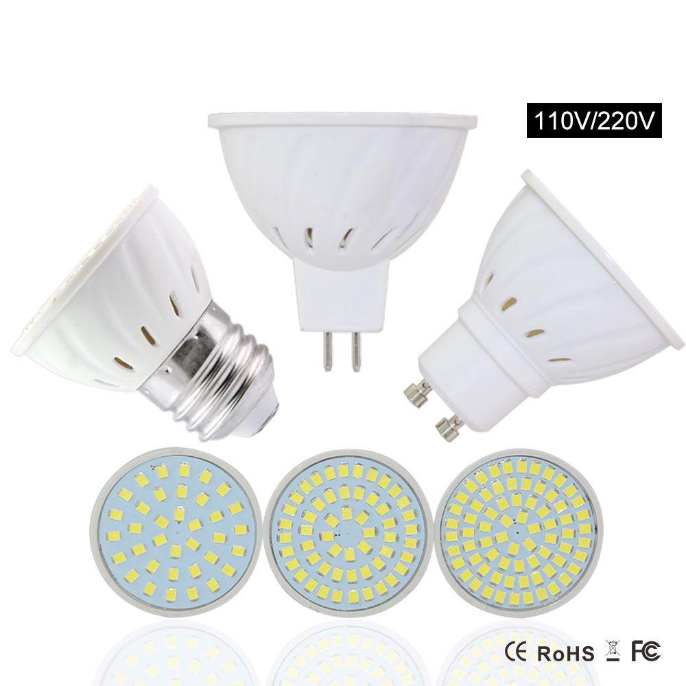 Gu10 Led Spotlight Lamp Mr16 E27 Led Bulb Gu10 110v 8w 6w 4w ...