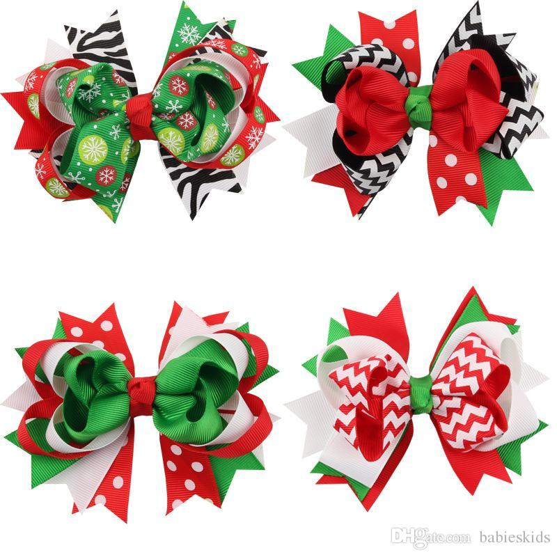 Clothing, Shoes & Accessories Hair Clip Women Girls Christmas Bow Gift Accessories Xmas Hairpin Barrette
