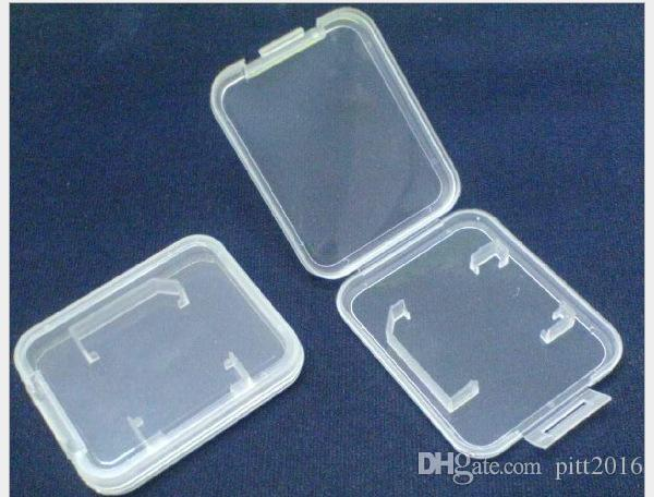 Caja de plástico de la tarjeta del TF de SD MMC caja envío libre # WRF46