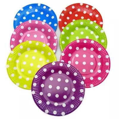 Wholesale-Color Dots Paper Plates Disposable Wave Point Cake Plates Party Supplies Party Decoration Decorative Bowls And Plates Decorative Brass Plate ...  sc 1 st  DHgate.com & Wholesale-Color Dots Paper Plates Disposable Wave Point Cake Plates ...
