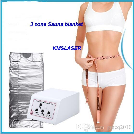 3 zone Home Spa Far infrared sauna slimming blanket weight loss Detox body shaping home salon use machine