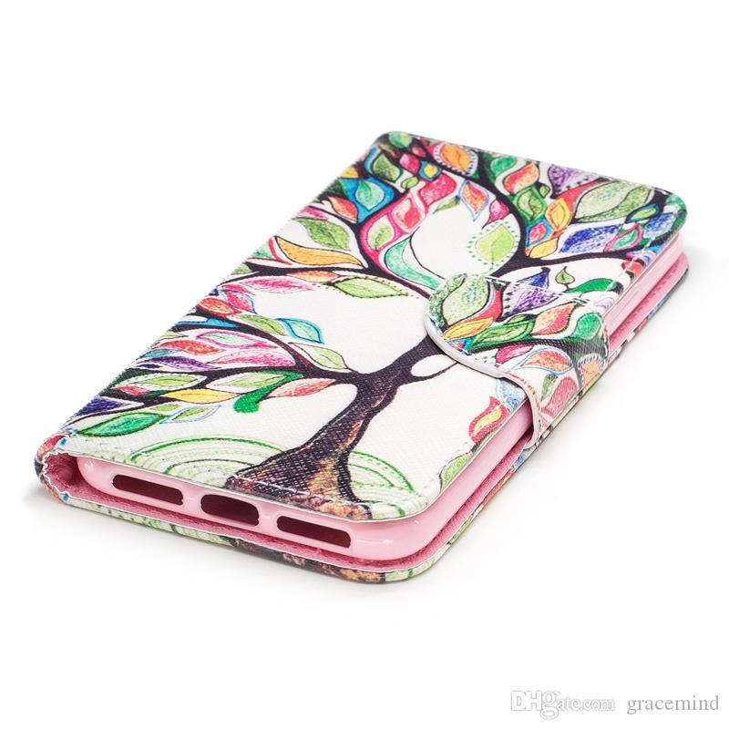 Cover E Custodie IPhone X Cover Dipinta PU Custodie In Pelle