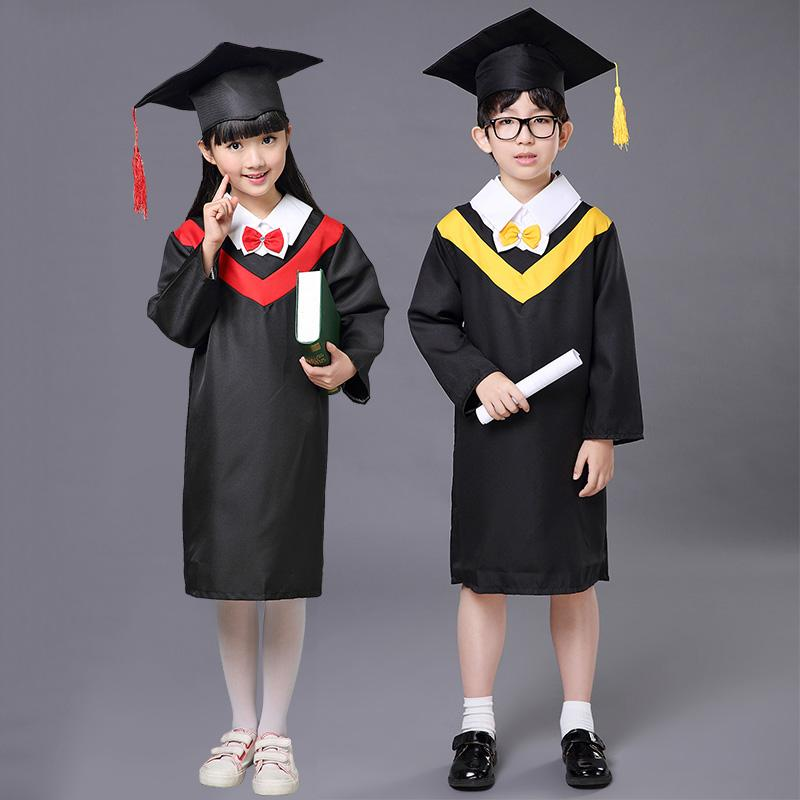 boys-girls-graduation-clothes-with-hat (1) ...  sc 1 st  DHgate.com & Best Quality 2017 Spring Kids Clothes Doctor Hat + Graduation Gowns ...