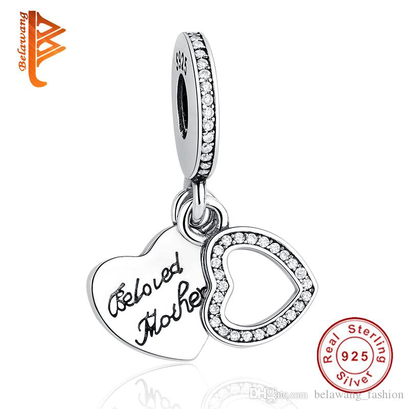 5cb413da1 BELAWANG For Mother's Day Gift 925 Sterling Silver Heart Charms ...