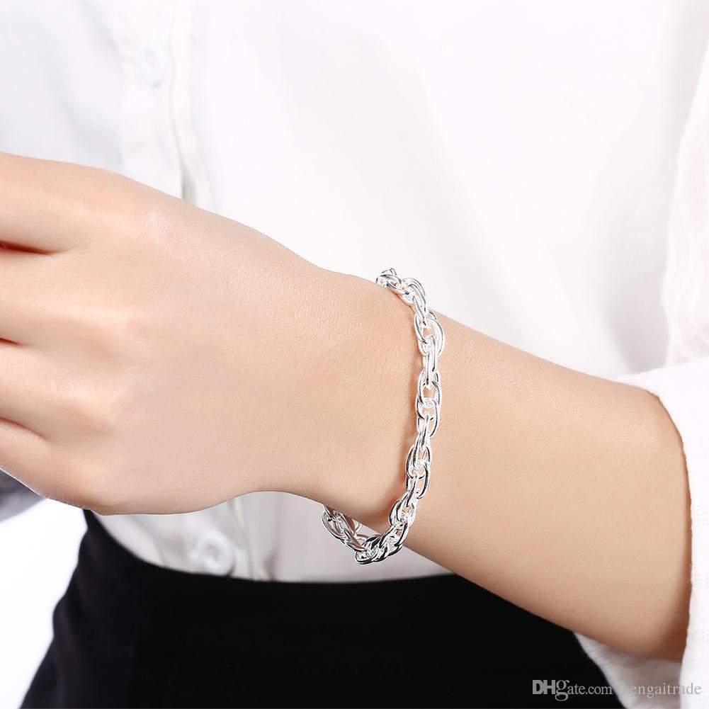 Livraison gratuite en gros 925 argent plaqué bracelets de charme de homard LKNSPCH138