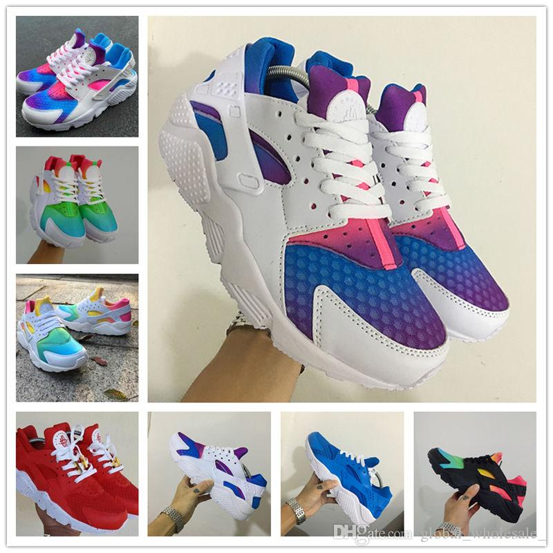3c830b87d31 2017 Fashion Air Huarache Ultra Running Shoes Huaraches Rainbow ...