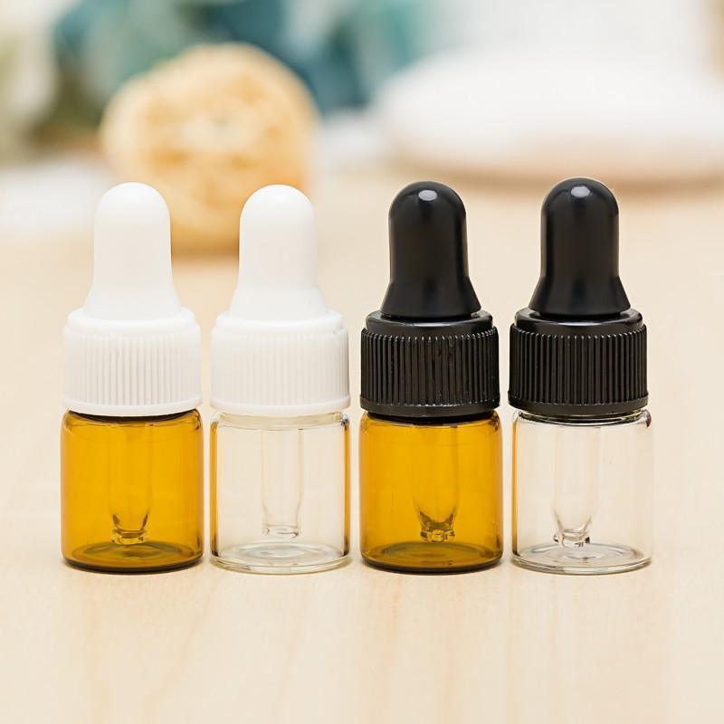 5ML MINI MINI AMBER CRISTAL DE ACEITE ESENCIAL Botellas de gotero recargable Vacío Eye Dropper Perfume Cosmético Líquido Líquida Loción Muestra Contenedor de almacenamiento