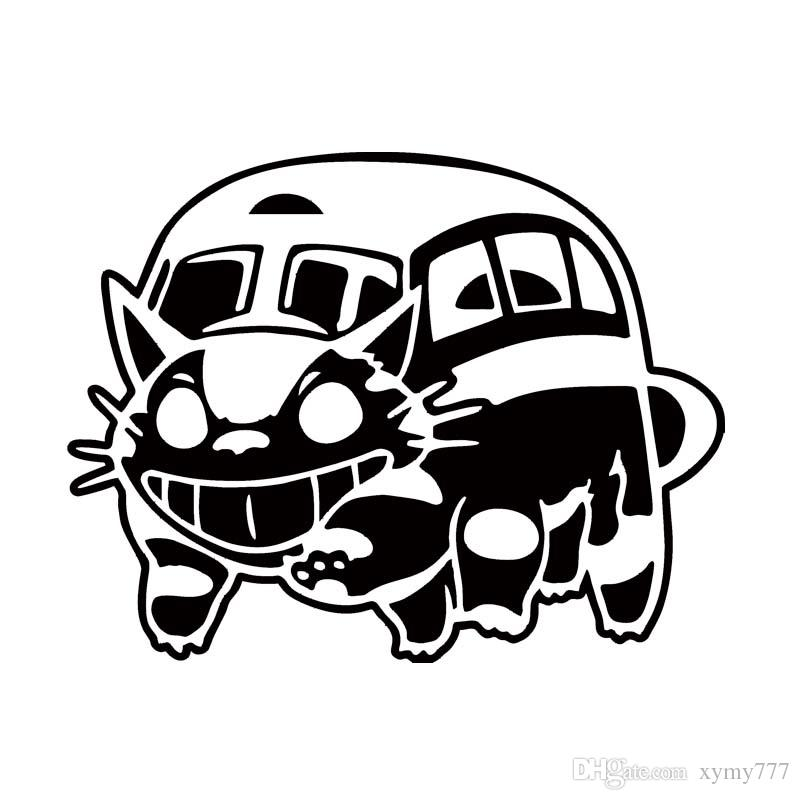 new style car styling for ghibli totoro catbus vinyl decal cat bus Suzuki Burgman Moped Black best car stents cheap custom car body decals