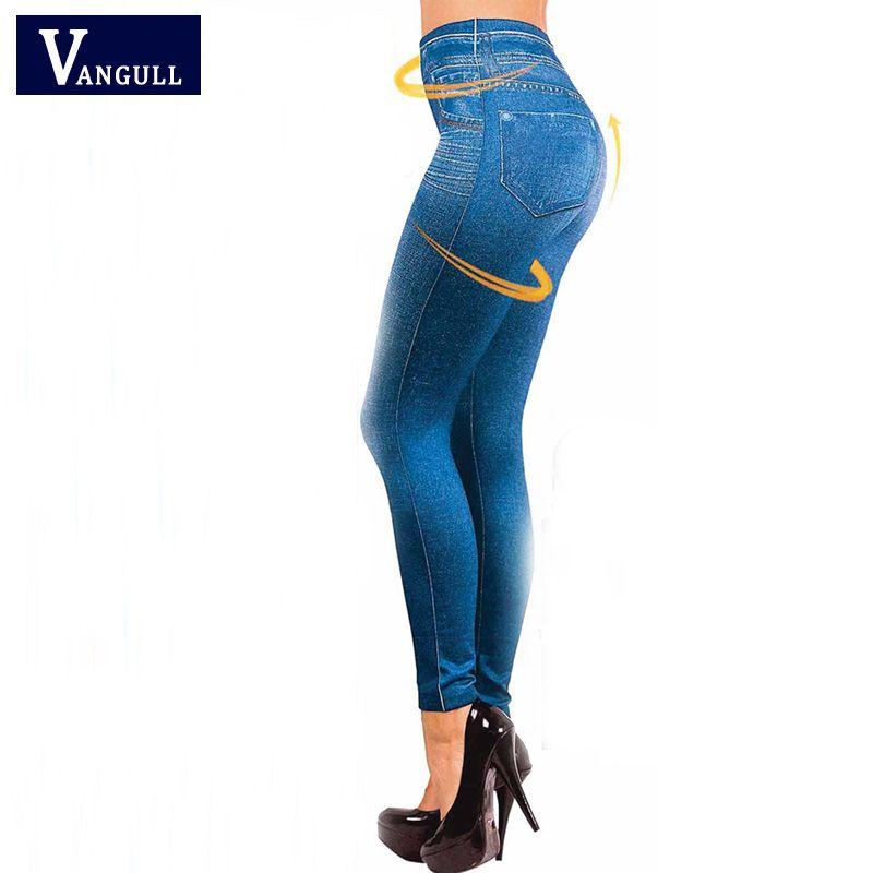 b030202c1 Compre Al Por Mayor Venta Caliente Leggings Jeans Leggins Jeggings Negro  2016 Causal Plus Size Jeggings Femal Pantalones Grises Azules Pantalones  Calientes ...