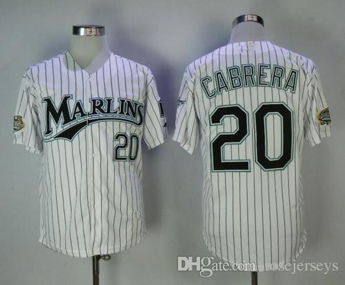 cb20778c51c4d7 2017 Mens Florida Marlins Ws Patch 2003 Rookie 20 Miguel Cabrera Jersey 24  White 2004 Black ...