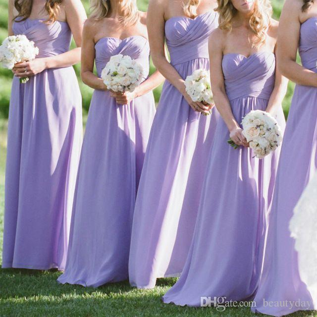 hot new products top style hot-selling clearance Bohemian Hippie Cheap Lavender Bridesmaid Dresses 2017 Chiffon Maid Of  Honor Gowns Formal Wedding Guest Dress Zipper Back Cheap Purple Bridesmaid  ...