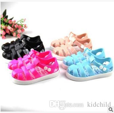 a6b21f72bd1e Summer Kids PVC Beach Sandals Girl S Soft Comfortable Cover Gladiator Clogs  Light Breathable Shoes Cheap Popular Beach Sandals Discount Baby Girl Dress  ...
