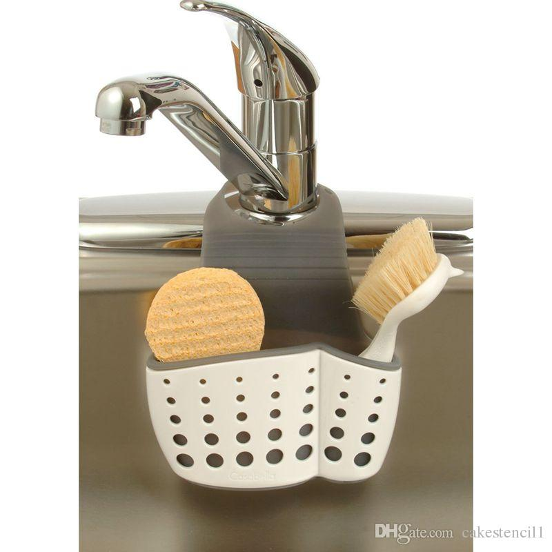 Plastic Hanging Sponge Holder Desk Organizer Pen Sink Sider Faucet Caddy For Sponges Scrub Brushes Soap Random Kitchen Gadgets Really Cool