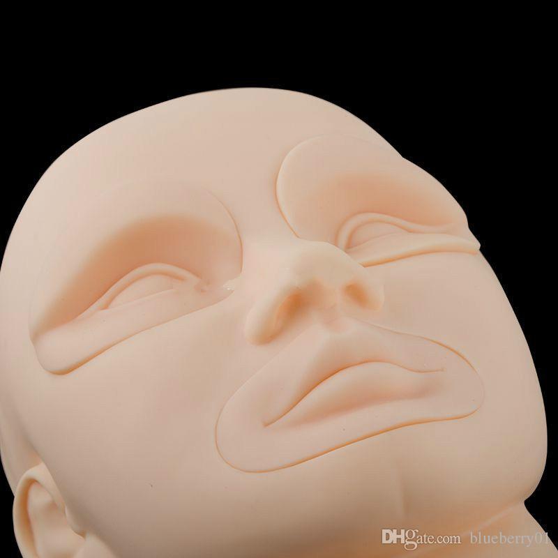 Maquillaje permanente 3D Tattoo Practice Skin Mannequin Head con 2 unids Eyes + 1 unids Lip For Tattoo Practice envío gratis