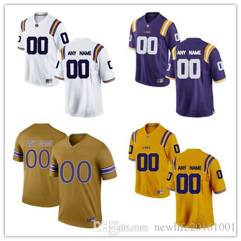 91d517c16 NCAA Custom LSU Tigers  80 Jarvis Landry 33 Jamal Adams 9 Joe Burrow 3  Kevin Faulk 2 JaMarcus Russell 1 Eric Reid College Football Jerseys LSU  Tigers Custom ...