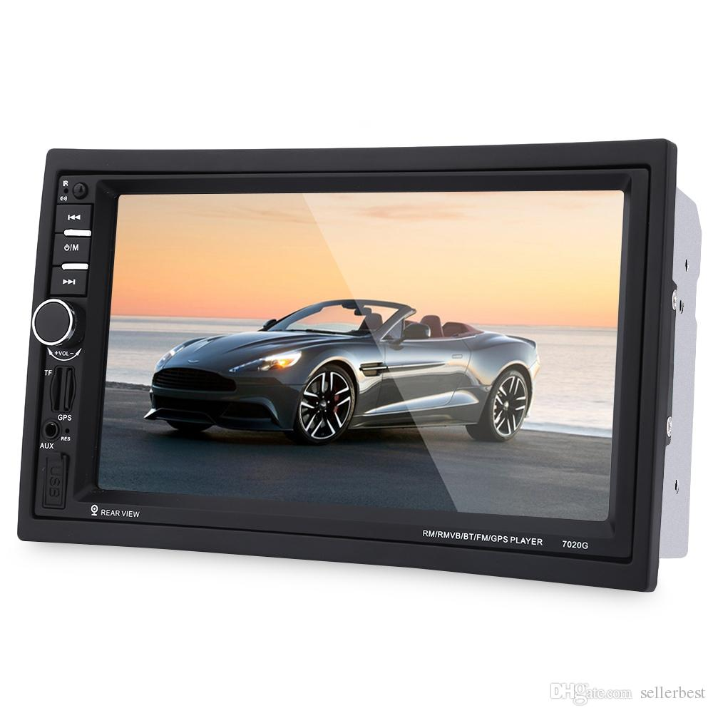 7020G Car MP5 Player con cámara de vista trasera Bluetooth FM GPS 7