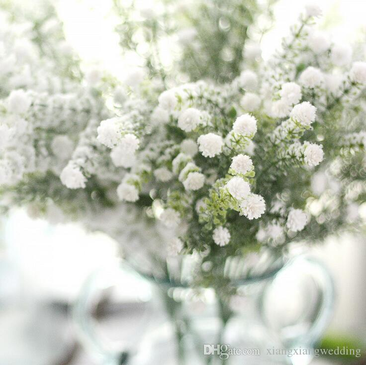 Искусственный Gypsophila Bouque Цветы Свадьба Поддельные Звездное Небо Цветы Рождественская Вечеринка Украшение Стола Букет Моделирование Babys ' Дыхание