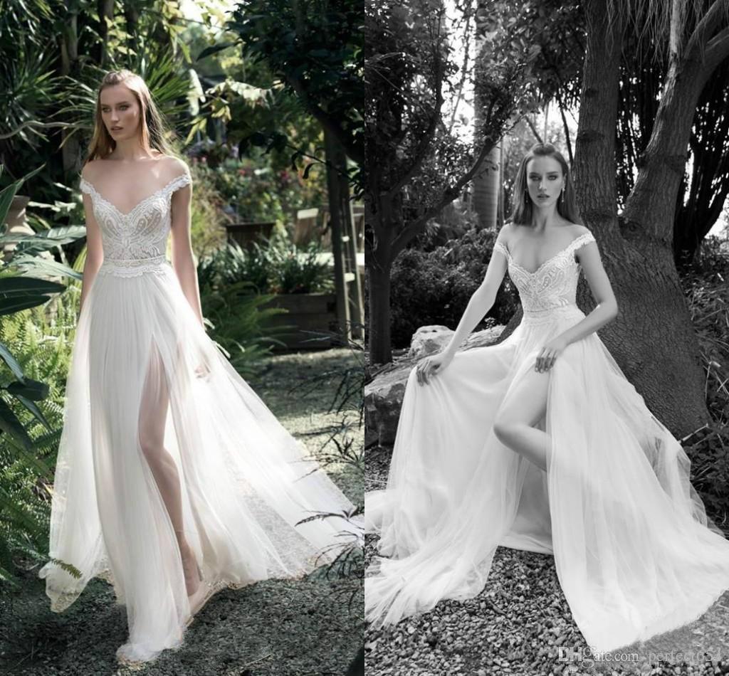 Discount Exquisite Gali Karten 2017 Beach Wedding Dresses Beads ...