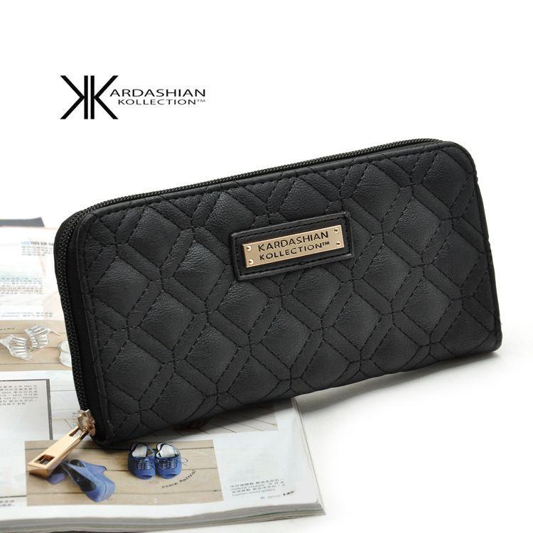 2017 Nuove donne Beige Nero Portafoglio Portafoglio donna europea americana Kim Kardashian Burst KK Portafoglio carta borsa borsa della borsa