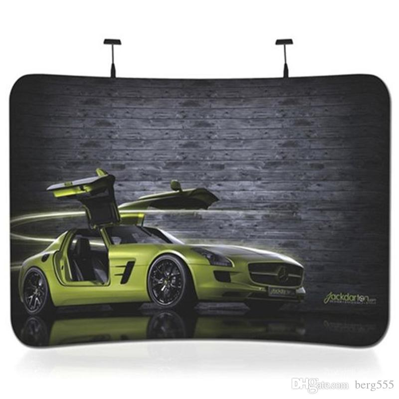 Ft Trade Show Banner Stand With Curved C Printings Featuring Thick - Portable car show display stand