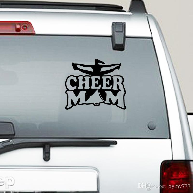 Acessórios do carro Personalidade Cheer Mãe Etiqueta Do Carro Para O Caminhão Janela Bumper Auto Suv Porta Vinyl Gráficos Decalques