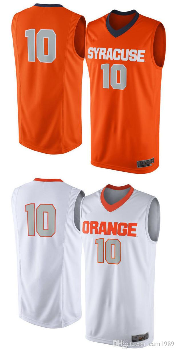 No 10 Syracuse Orange Men College Basketball Jersey Embroidery Athletic Outdoor Apparel Mens Sport Jerseys Size S 3xl