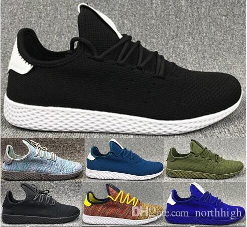 dc2de900d Pharrell Williams HUMAN RACE Tennis Hu White Green BA7828 White Yellow  BY2674 Multi Color Ice Blue Shoes Wholesale   Drop Shipping Prom Shoes  Sperry Shoes ...