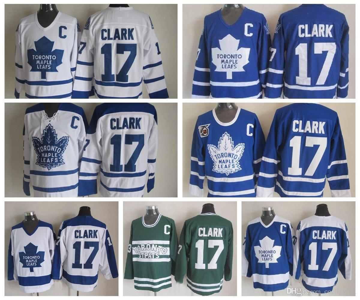 free shipping 7d006 89805 nhl jerseys toronto maple leafs 17 wendel clark white c ...